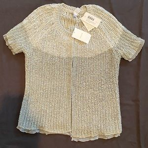 NWT Chico's 0 Cardigan 4 Gray Sweater Silver